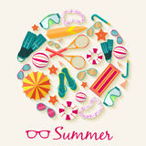 Summer vecetion time background vector Stock Photo
