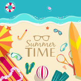 Summer vecetion time background vector Royalty Free Stock Photo