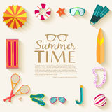 Summer vecetion time background vector Stock Photography