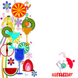 Summer Vector Background Stock Photos