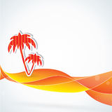 Summer vector background, orange colors Stock Photography