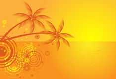 Summer vector background with tropical beach Royalty Free Stock Photography