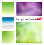 Summer vector backgrounds. Blurred backgrounds for your projects. Summer vector gradient backgrounds. Set of summer abstract background with hints of color Stock Image