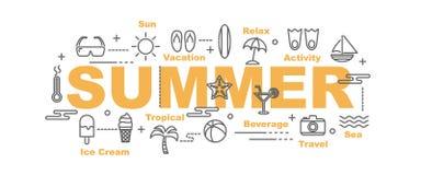 Summer vector banner Stock Photo