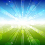 Summer - vector blur. Summer - vector blue & green blur Stock Photography