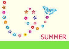 Summer vector card Royalty Free Stock Photo