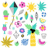 Summer vector elements collection Stock Image