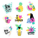 Summer vector elements collection Stock Photography