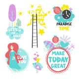 Summer vector elements Royalty Free Stock Photo