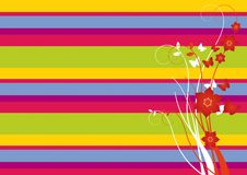 Summer vector floral ornament. Colorful Summer vector floral ornament royalty free illustration