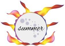 Summer. Vector frame rainbow summer heat Royalty Free Stock Photography