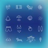 Summer vector icon set, hand drawn design element Stock Image
