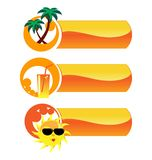 Summer vector icons. Stock Image