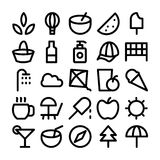 Summer Vector Icons 4 Royalty Free Stock Photography