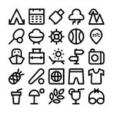 Summer Vector Icons 6 Stock Images