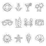 Summer. Vector icons Stock Photos
