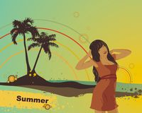 Summer vector illustration Stock Photo