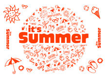 Summer Vector illustration Royalty Free Stock Photography
