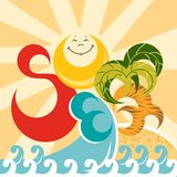 Summer. Vector illustration. Stock Image
