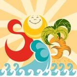 Summer. Vector illustration. Summer holiday. Sun. Vector illustration Stock Image