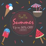 Summer Vector Illustration. Royalty Free Stock Photos