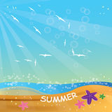 Summer. Vector  illustration Summer sky Royalty Free Stock Images