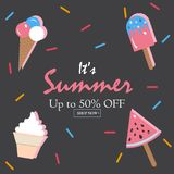 Summer Vector Illustration. Royalty Free Stock Image