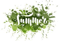 Summer. Vector illustration on a watercolor background. royalty free illustration