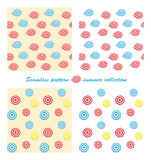 Summer vector seamless pattern with parasols Stock Photography
