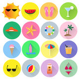 Summer vector set. Colorful summer vector set,wallpaper Stock Photos