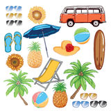 Summer Vector. In white background Stock Image