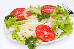 Summer vegetable fresh salad Stock Photography