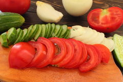Summer vegetable harvest Stock Photo
