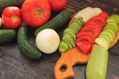 Summer vegetable harvest Stock Photos