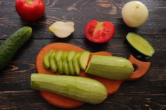 Summer vegetable harvest Stock Photography