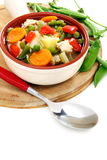 Summer vegetable soup. Stock Photos