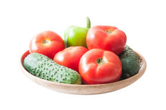 Summer vegetables plate Royalty Free Stock Images