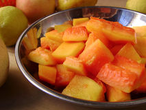 Summer vegetarian papaya salad Stock Image