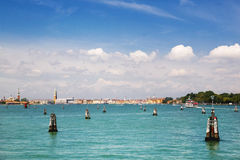 Summer venetian seaview Royalty Free Stock Photography