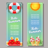 Summer vertical banner Royalty Free Stock Images