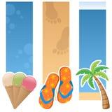 Summer Vertical Banners stock illustration