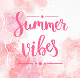 Summer vibes floral background Stock Image