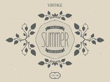 Summer Victorian elements Stock Images