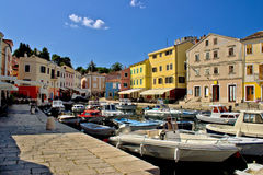 Summer viev of Veli Losinj waterfront Stock Image