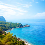 Summer View of Adriatic Coastline Stock Photo