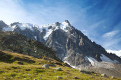 Summer view of Aiguille du Midi, France Royalty Free Stock Photo