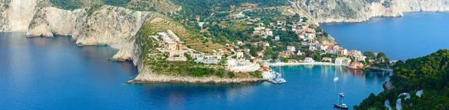 Summer view of Assos peninsula (Greece,  Kefalonia). Panorama. Stock Image