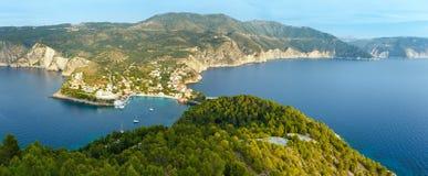 Summer view of Assos peninsula (Greece,  Kefalonia). Stock Image