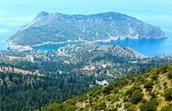 Summer view of Assos peninsula (Greece,  Kefalonia). Royalty Free Stock Photo
