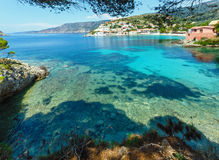 Summer view of Assos village (Greece,  Kefalonia). Stock Images